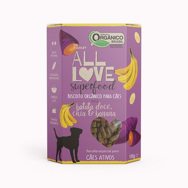 All Love - Superfood   Batata Doce, Chia & Carne 150g