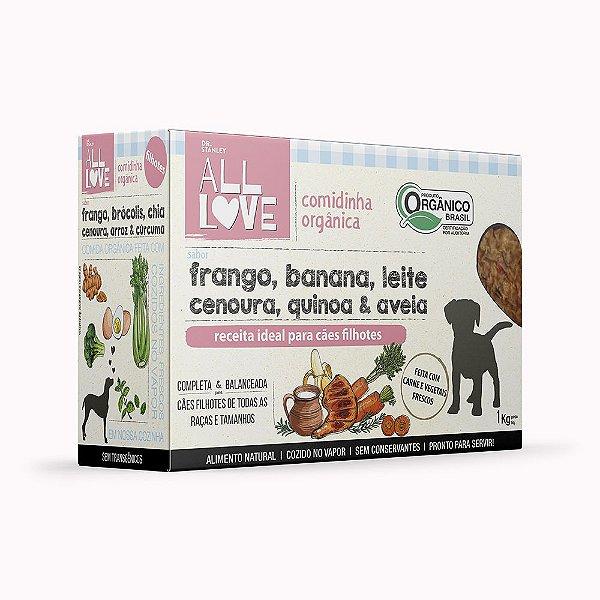 All Love   Comidinha Orgânica para cães Filhotes 1 kg