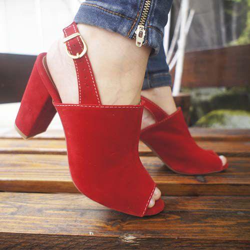 Ankle Boot Zhaceci Vermelho