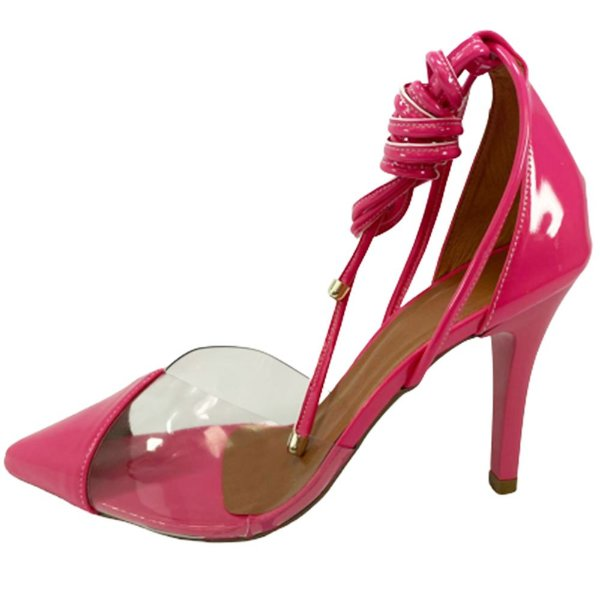 Scarpin Zhaceci de Amarrar Pink