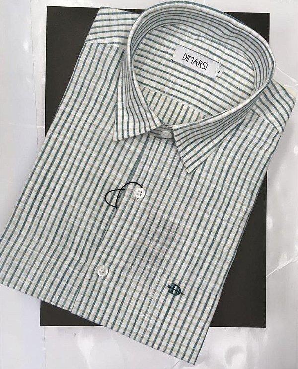 Camisa Dimarsi - Com Bolso - Manga Curta - 100% Algodão - Ref. 8947 Xadrez