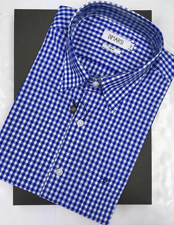 Camisa Dimarsi - Com Bolso - Manga Curta - fIO 80 - 100% Algodão - Ref. 8971 Xadrez