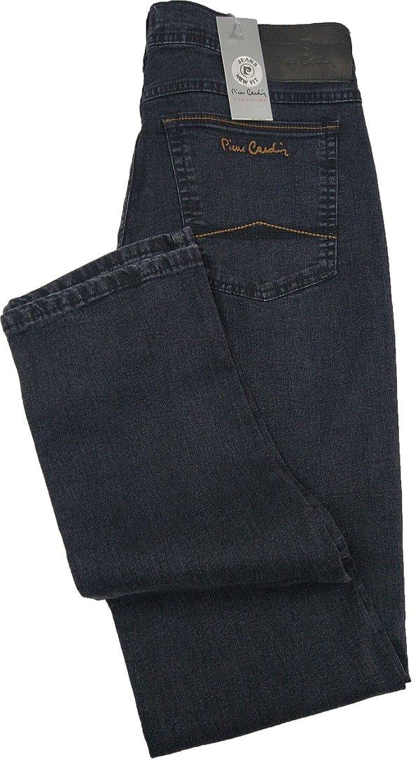 Calça Jeans Masculina Pierre Cardin Reta (Cintura Média) - Ref. 457P278 (GRAFITE) - Algodão / Poliester / Elastano - Jeans Macio