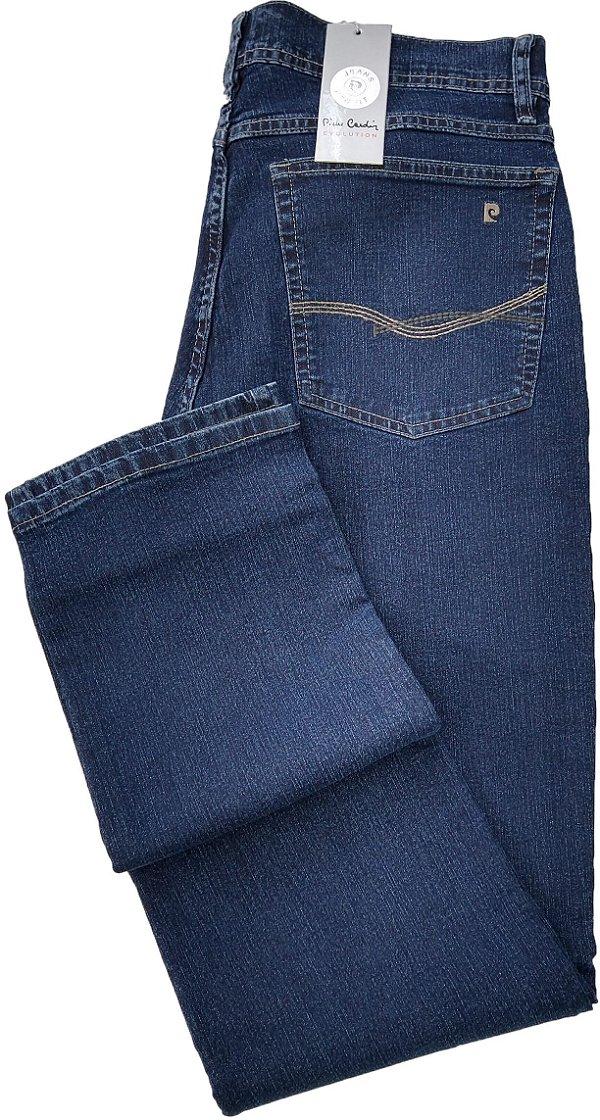 Calça Jeans Masculina Pierre Cardin Reta (Cintura Média) - Ref. 457P388 - Algodão / Poliester / Elastano - Jeans Macio