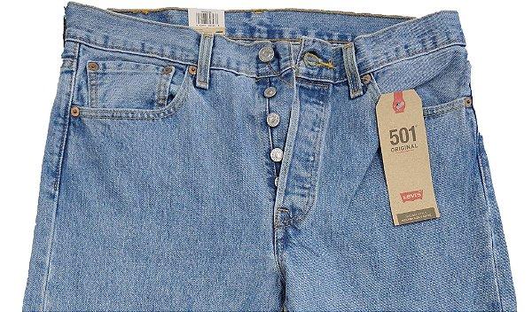 Calça Jeans Levis Masculina Corte Tradicional (Com Botão) - Ref. 501-1034 - 100% Algodão