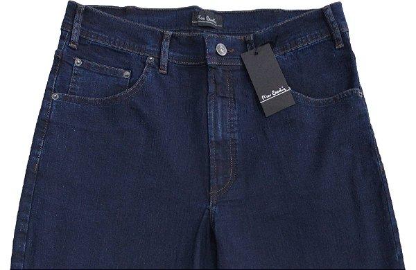 Calça Jeans Masculina Pierre Cardin Reta (Cintura Alta) - Ref. 467P273 Azul - Algodão / Poliester / Elastano (Jeans Fino e Macio)