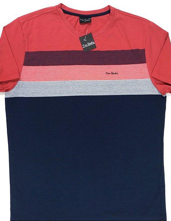 Camiseta Gola Careca Pierre Cardin - 100% Algodão - Ref 75033V