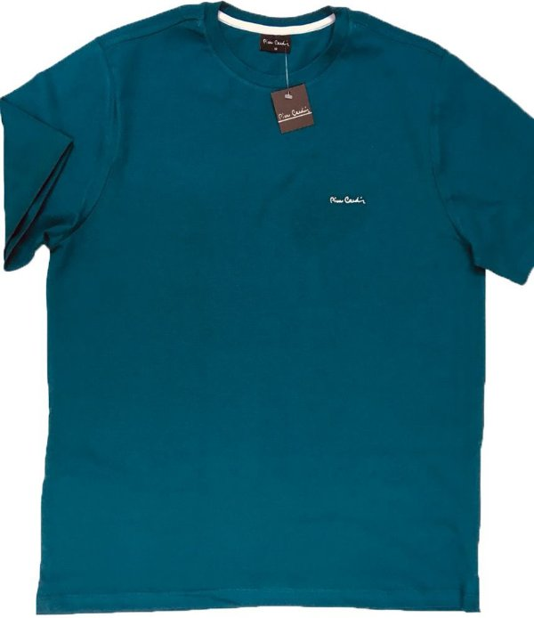 Camiseta Gola Careca Pierre Cardin - 100% Algodão - Ref 75010 Verde