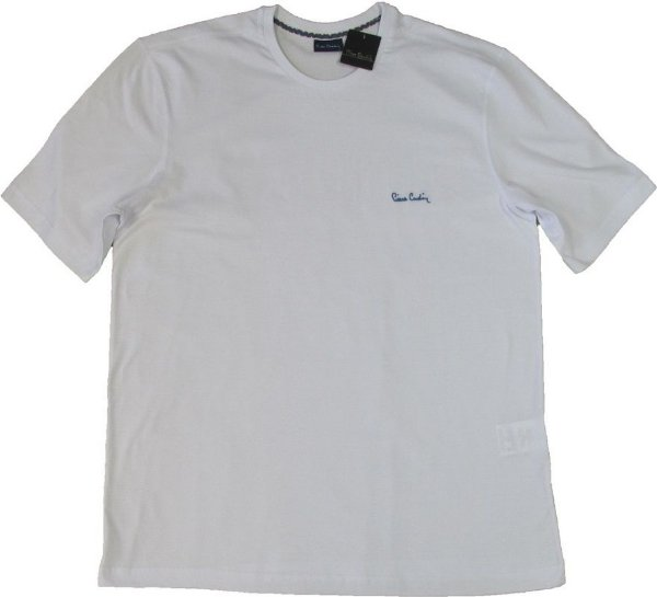 Camiseta Gola Careca Pierre Cardin - 100% Algodão - Ref 75010 Branca