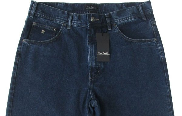 Calça Jeans Masculina Pierre Cardin Reta Tradicional (Cintura Alta) - Ref. 462P592 (AZUL) - 100% Algodão
