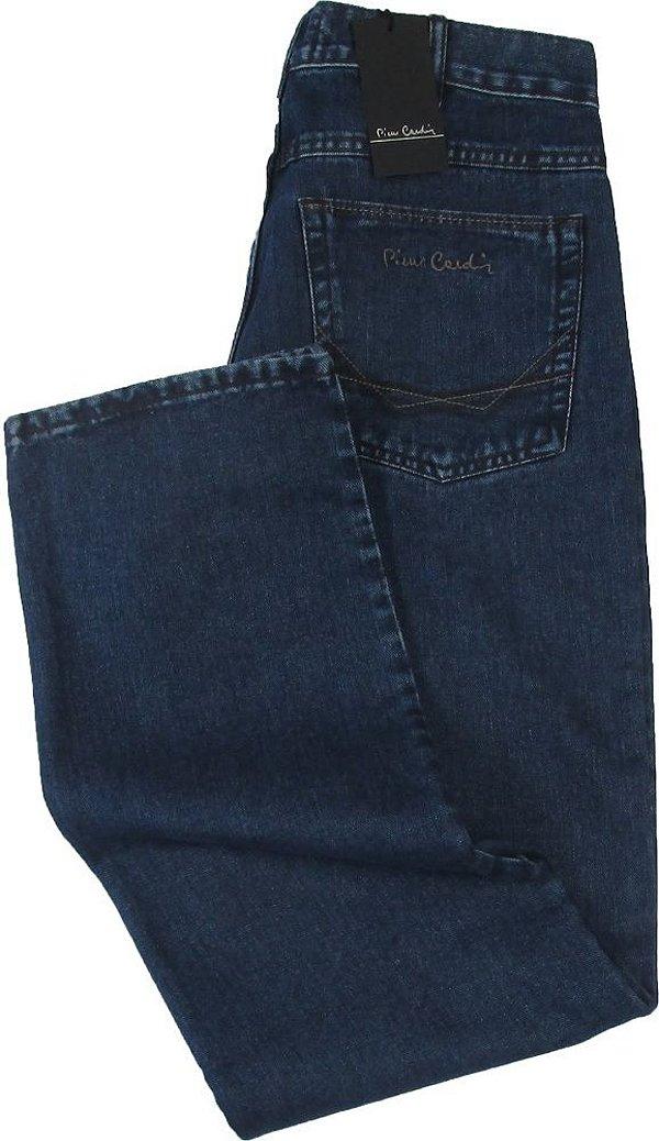 Calça Jeans Masculina Pierre Cardin Reta (CINTURA ALTA) - Ref. 462P599 (AZUL) - 100% Algodão