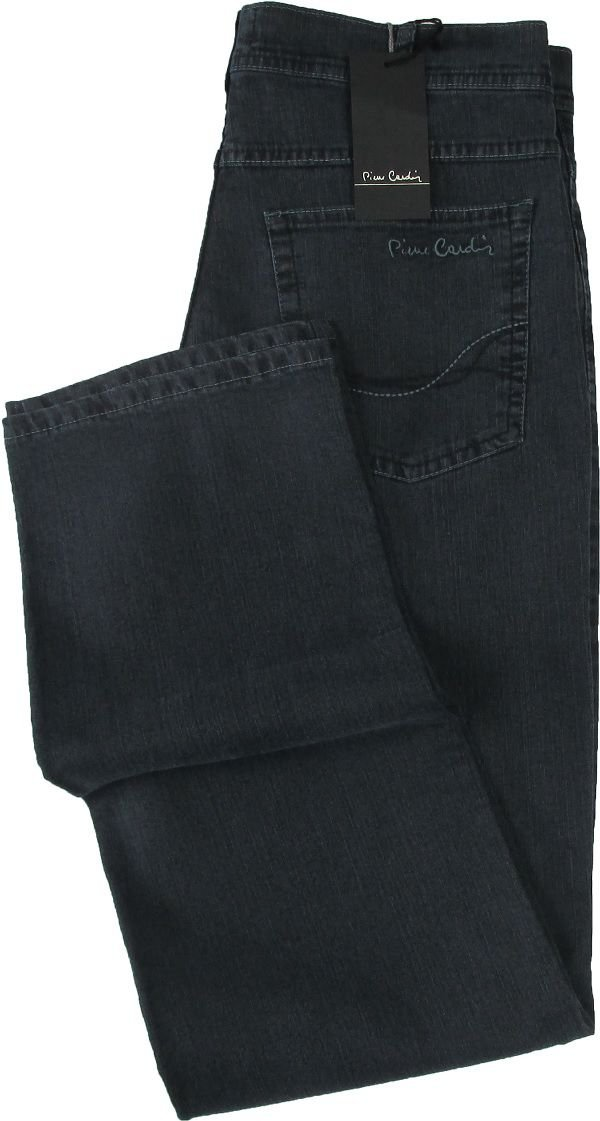 Calça Jeans Masculina Pierre Cardin Reta (Cintura Alta) - Ref. 467P878 (GRAFITE) - Algodão / Poliester / Elastano (Jeans Fino e Macio)