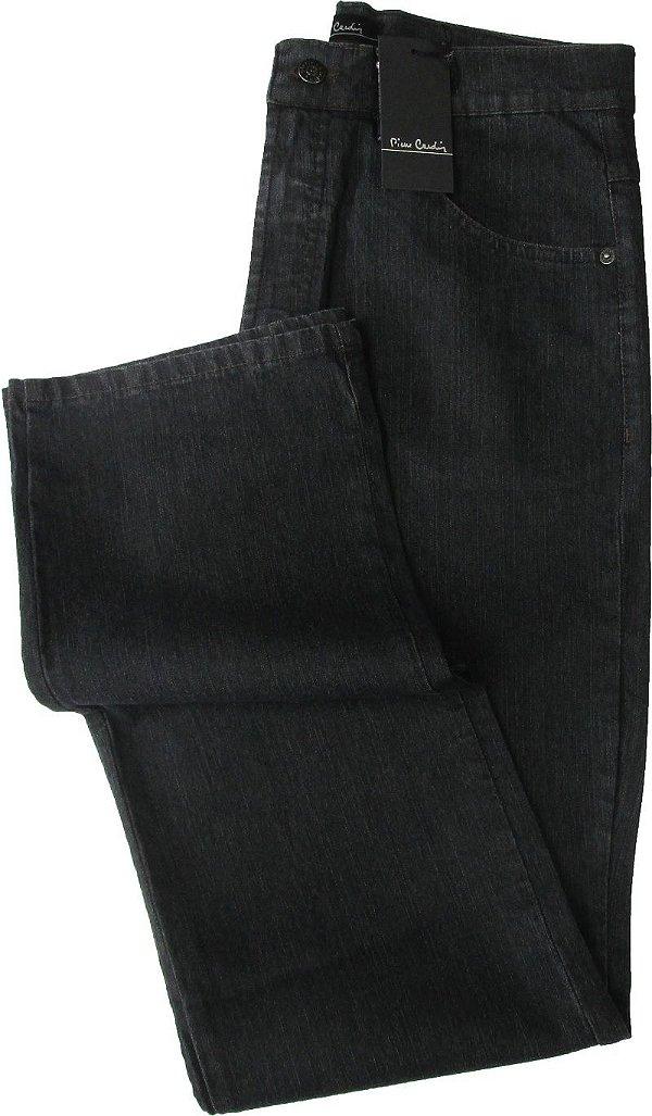Calça Jeans Masculina Pierre Cardin Reta (Cintura Alta) - Ref. 467P048 (GRAFITE) - Algodão / Poliester / Elastano (Jeans Fino e Macio)
