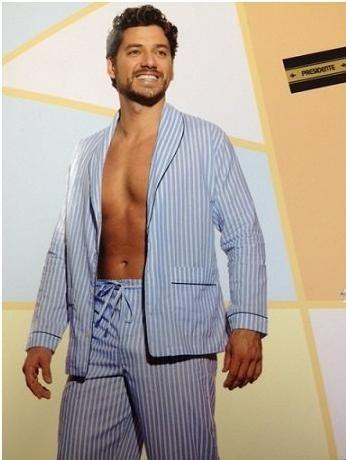 Pijama Presidente  Longo Listrado AZL - Tricoline / 100% Algodão