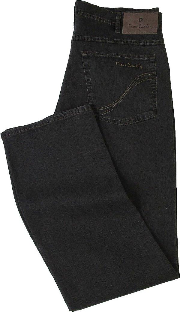 Calça Jeans Masculina Pierre Cardin Reta (Cintura Alta) - Ref. 467P945 (GRAFITE) - Algodão / Poliester / Elastano (Jeans Fino e Macio)