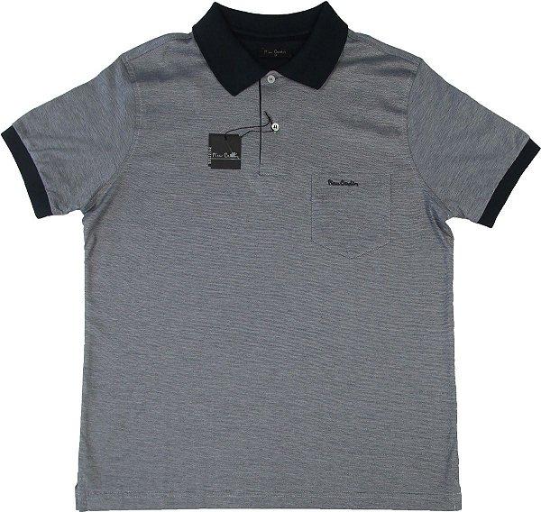 Camisa Polo Pierre Cardin (COM BOLSO PEQUENO) - FIO DE ESCÓCIA - 100% Algodão - Ref. 15530