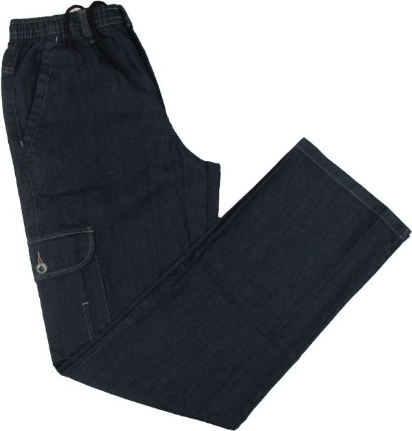 Calça Jeans Fino Com Elástico - Stargriff - Bolso Lateral - Ref. 784 STONE