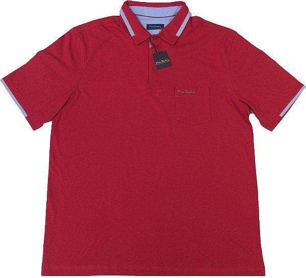 Camisa Polo Pierre Cardin Com Bolso Pequeno  - 100% Algodão - Ref. 42190