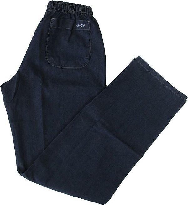 Calça Jeans Fino de Elástico (Com Zipper) - Stargriff - Ref. 427 Stone