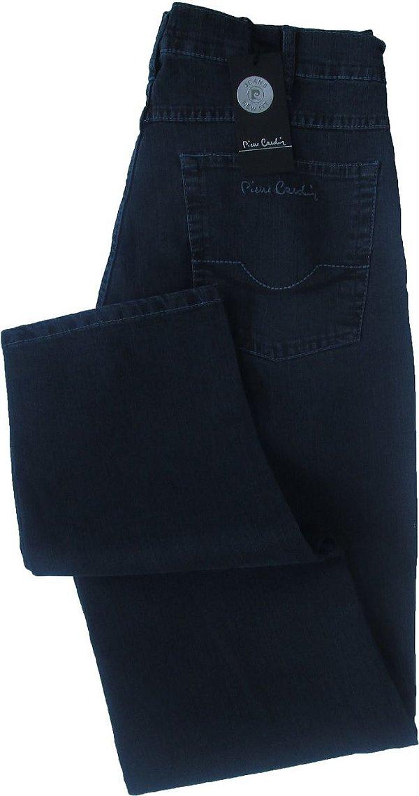 Calça Jeans Masculina Pierre Cardin Reta (Cintura Média) - Ref. 457P880 - GRAFITTE - Algodão / Poliester / Elastano (Jeans Fino e Macio)