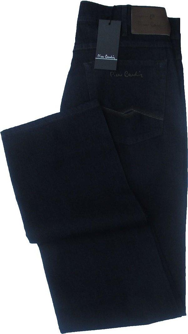 Calça Jeans Masculina Pierre Cardin Reta (Cintura Alta) - Ref. 467P051 (Azulão) - Algodão / Poliester / Elastano (Jeans Fino e Macio)