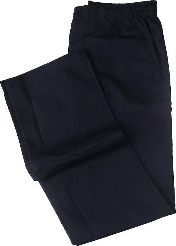 Calça de Elástico Stargriff - Com Zipper e Botão - 80% Algodão / 20% Poliester - Ref. 004 Marinho