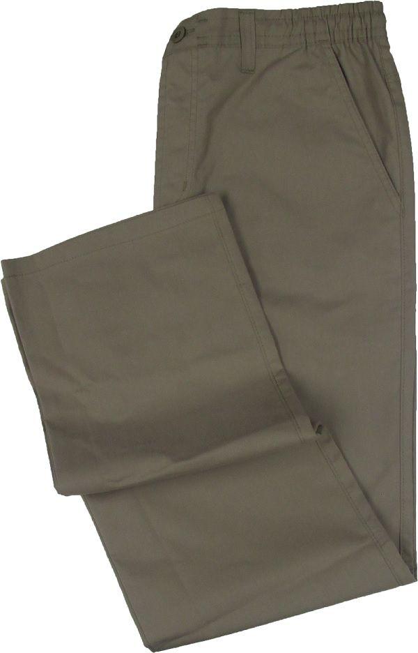 Calça de Elástico Stargriff - Com Zipper e Botão - 80% Algodão / 20% Poliester - Ref. 004 Caqui