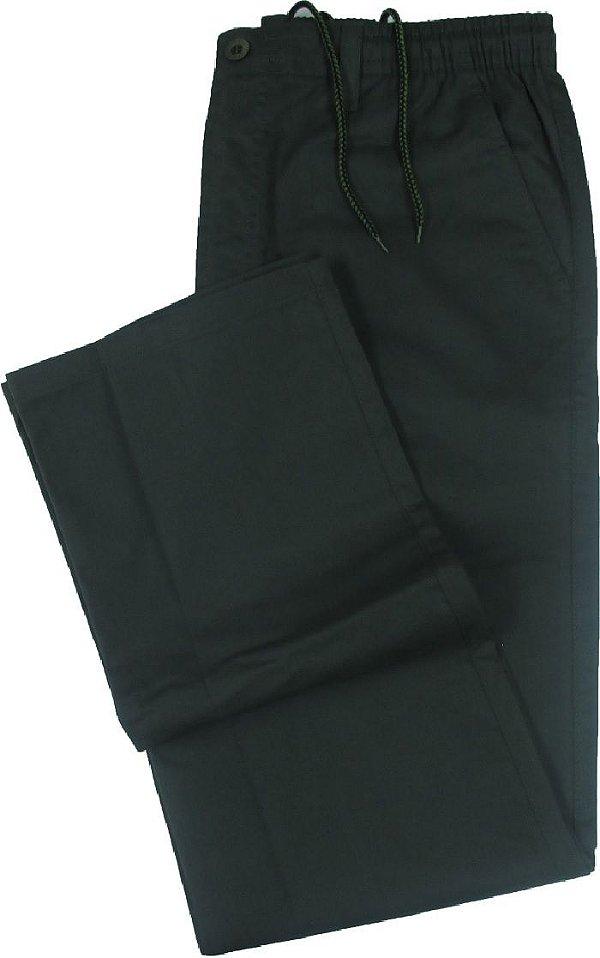 Calça de Elástico Stargriff - Com Zipper e Botão - 80% Algodão / 20% Poliester - Ref. 004 Musgo