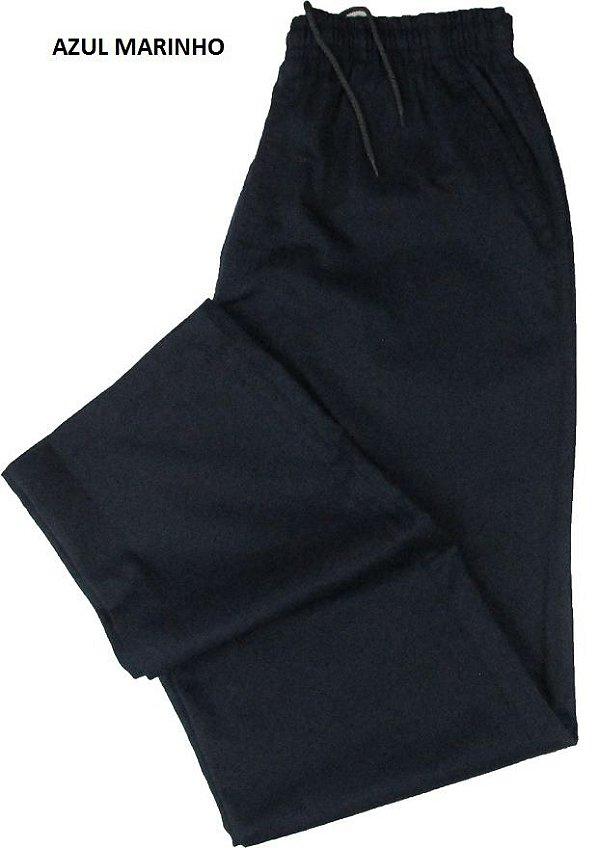 Calça de Elástico Masculina Com Zipper - Stargriff - 100% Algodão - Ref. 421 Marinho