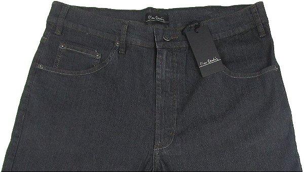 Calça Jeans Masculina Pierre Cardin Reta (Cintura Alta) - Ref. 467P070 (GRAFITE) - Algodão / Poliester / Elastano (Jeans Fino e Macio)
