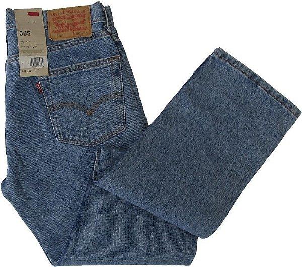 Calça Jeans Levis Masculina Corte Tradicional - Ref. 505-4834 - 100% Algodão