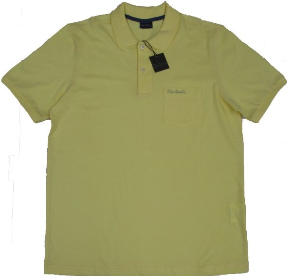 Camisa Polo Pierre Cardin (Com Bolso Pequeno) - 100% Algodão - Ref. 40150 AMARELA
