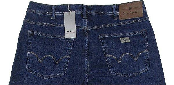 Calça Jeans Masculina Pierre Cardin Reta (Cintura Alta) - Ref. 467P357 (Azul) - Algodão / Poliester / Elastano (Jeans Fino e Macio)