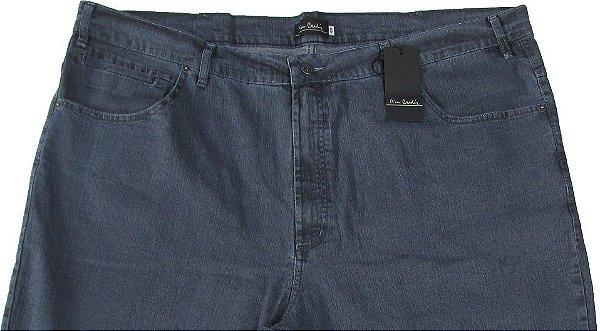 Calça Jeans Masculina Pierre Cardin Reta (Cintura Alta) - Ref. 487P886 PLUS SiZE (GRAFITTE) - Algodão / Poliester / Elastano (Jeans Fino e Macio)