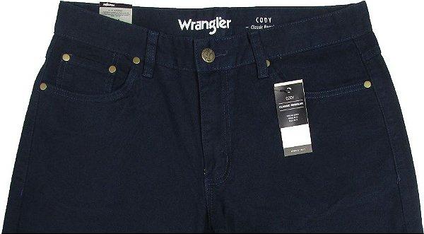 Calça De Sarja Masculina Wrangler Reta Tradicional - Ref. WM1010 Marinho - Linha Cody - 100% algodão