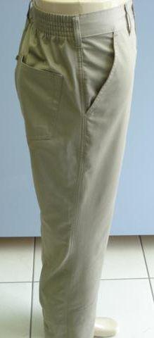 Calça Meio Elástico Cherne - 100% Algodão - Ref. 4156 Bege
