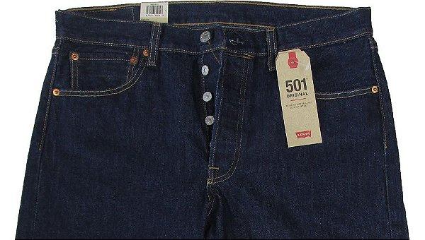 Calça Jeans Levis Masculina Corte Tradicional (Com Botão) - Ref. 501-0115 - 100% Algodão