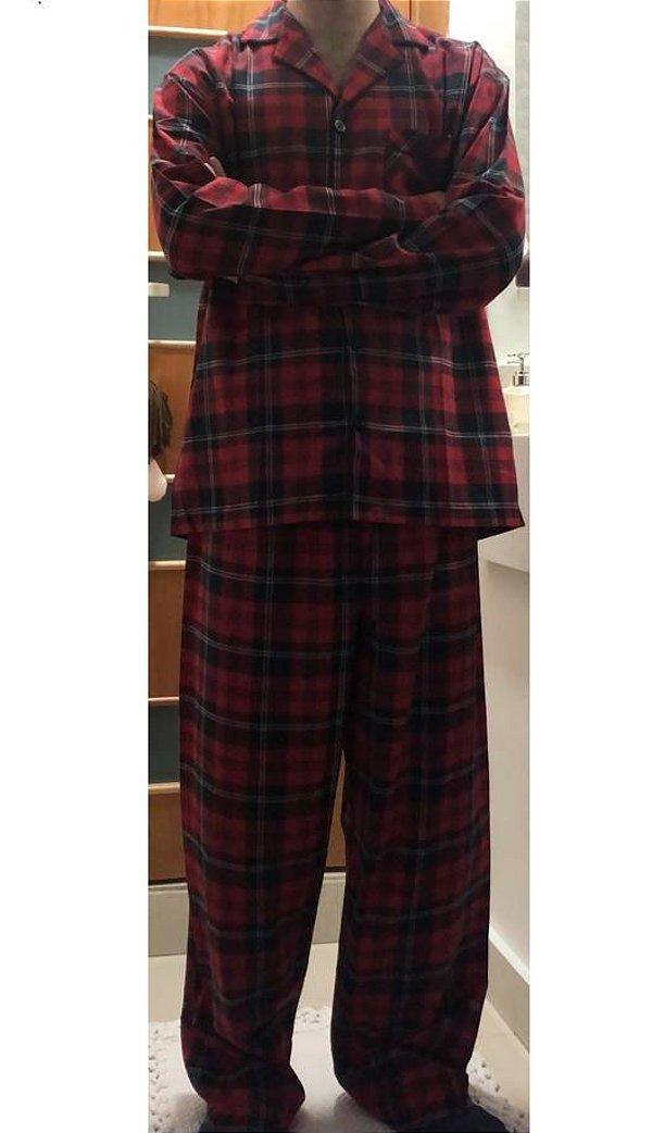 Pijama Masculino Dulmar - Ref. 290 Xadrez - 83% Algodão / 17% Poliester