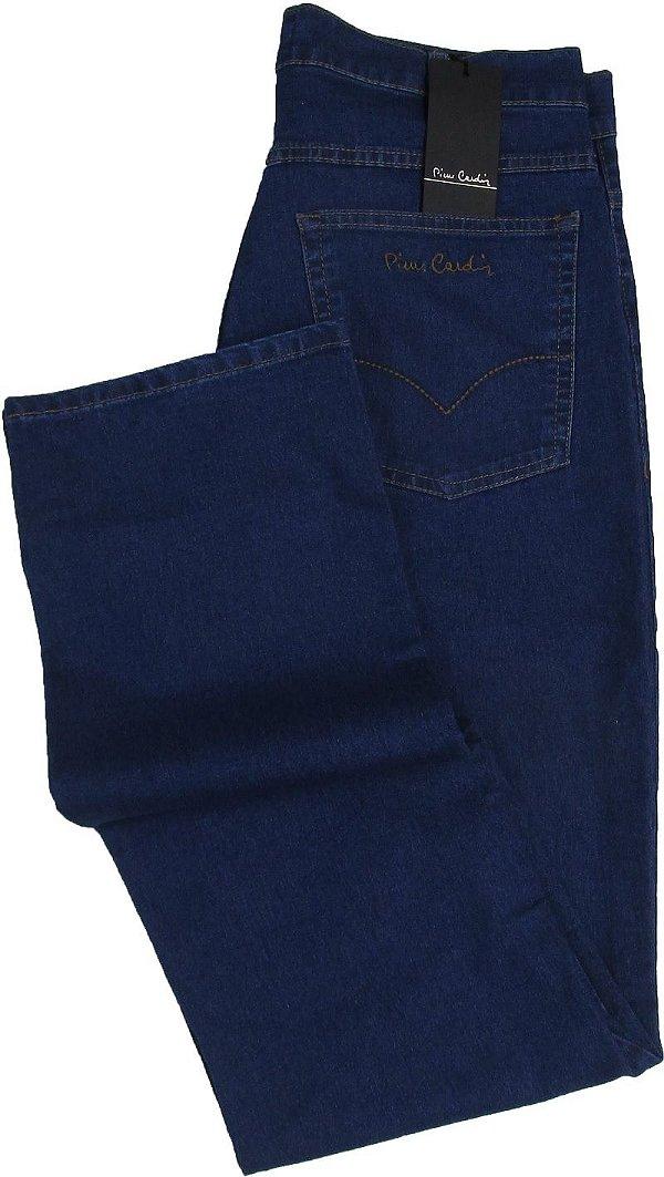 Calça Jeans Masculina Pierre Cardin Reta (Cintura Alta) - Ref. 467P243 (DELAVE) - Algodão / Poliester / Elastano (Jeans Fino e Macio)