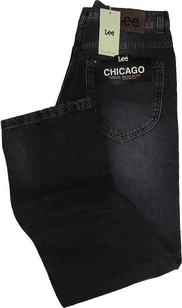 Calça Lee Chicago Masculina Reta Tradicional - Ref. 1014L - Jeans Fino e Macio - 100% Algodão