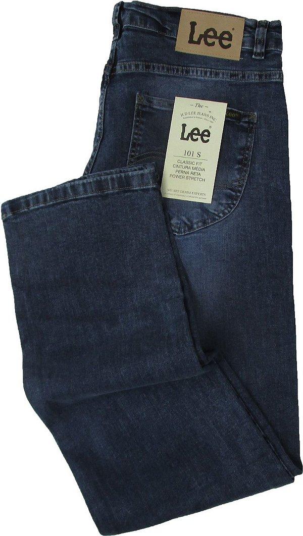Calça Lee 101-S Masculina - Modelagem ajustada - Cintura Média - Ref. 1504L - Jeans Fino e Macio (98% Algodão / 2% Elastano)