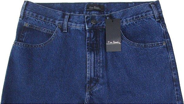 Calça Jeans Masculina Pierre Cardin Reta Tradicional (Cintura Alta) - Ref. 462P588 - 100% Algodão