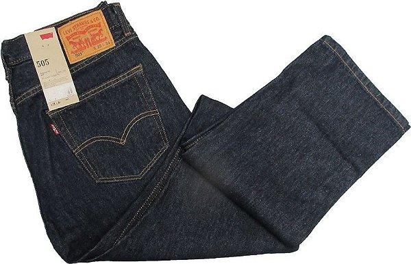 Calça Jeans Levis Masculina Corte Tradicional - Ref. 505-0216 (JEANS AZUL) - 100% Algodão