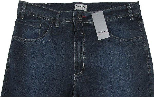 Calça Jeans Masculina Pierre Cardin Reta (Cintura Alta) - Ref. 467P995 (AZUL) - 98% Algodão / 2% Elastano (Jeans Macio)