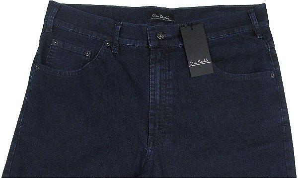 Calça Jeans Masculina Pierre Cardin Reta (Cintura  Alta) - Ref. 467P105 (AZUL) - Algodão / Poliester / Elastano (Jeans Fino e Macio)
