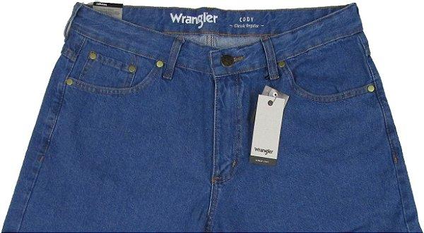 Calça Jeans Masculina Wrangler Reta Tradicional - Ref. WM1003 - Linha Cody - 100% algodão - Jeans Fino