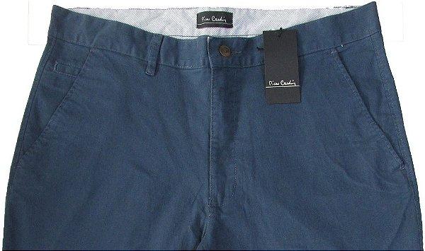 Calça Sport Fino Pierre Cardin (Bolso Faca) - Ref. 430p945 Azul  - 98% Algodão / 2% Elastano