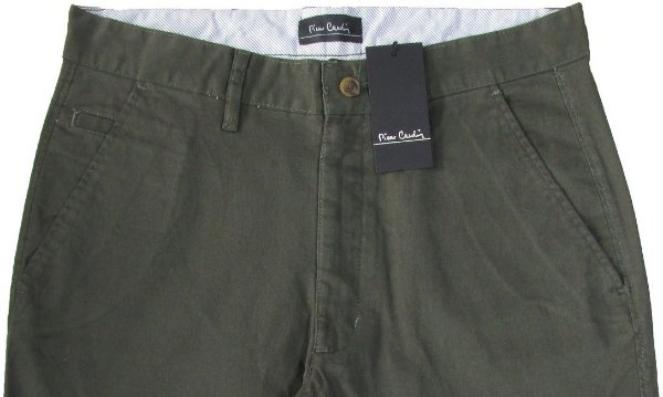 Calça Sport Fino Pierre Cardin (Bolso Faca) - Ref. 430p945 Verde - 98% Algodão / 2% Elastano