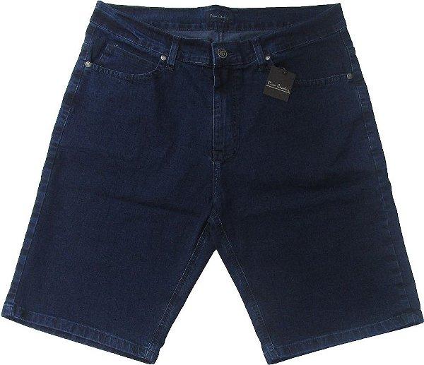Bermuda Jeans Masculina Pierre Cardin - Ref. 50180 - Algodão / Poliester / Elastano (Jeans Fino e Macio)