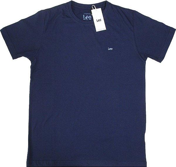Camiseta Lee Gola careca -100% Algodão - Ref. 5103L - Marinho
